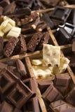 Die Farben der Schokolade Stockfotografie
