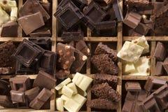 Die Farben der Schokolade Stockbild