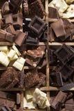 Die Farben der Schokolade Lizenzfreie Stockfotografie