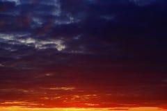 Die Farben des Himmels Stockbild