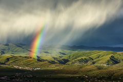 Die Farben des Regenbogens Stockfotografie