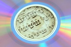 Die Farben von CD Stockbild