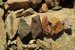 Die farbigen Steine Stockfotos