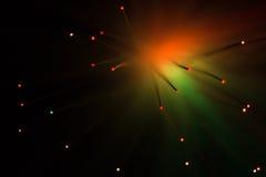 Die Farblampenglasfaser Lizenzfreies Stockfoto