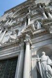 Die Fassade der Kathedrale in Girona, Spanien Stockbild