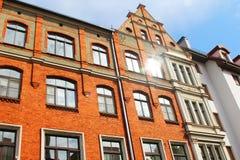 Die Fassade des Altbaus Riga, Lettland lizenzfreie stockfotografie