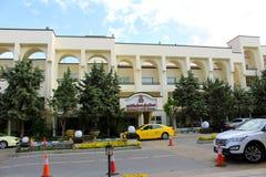 Die Fassade des Parsian Evin Hotel in Teheran, der Iran lizenzfreie stockfotografie