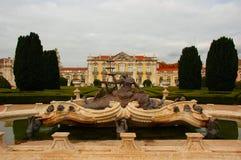 Die Fassade des Queluz Staatsangehörigpalastes Lizenzfreie Stockfotos