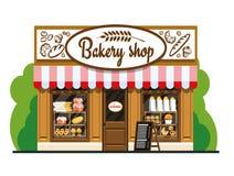 Die Fassade eines Bäckereishops Stockbilder