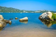 Die faszinierende Beschaffenheit und der Luxus von Nord- Ost-Sardinien stockfoto