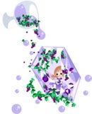 Die Fee des purpurroten Juwels Lizenzfreie Stockbilder