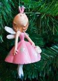 Die Fee in einem rosafarbenen Kleid Lizenzfreies Stockbild
