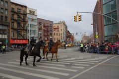 Die Feier 2014 Chinesischen Neujahrsfests in NYC 87 Stockbild