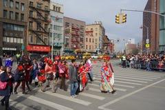 Die Feier 2014 Chinesischen Neujahrsfests in NYC 9 Stockbilder