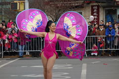 Die Feier 2014 Chinesischen Neujahrsfests in NYC 12 Lizenzfreies Stockbild