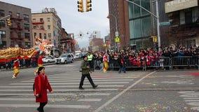 Die Feier 2014 Chinesischen Neujahrsfests in NYC 18 Stockbild