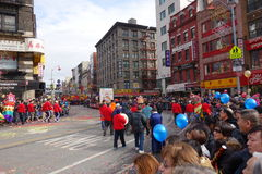 Die Feier 2014 Chinesischen Neujahrsfests in NYC 26 Stockfotografie