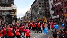 Die Feier 2014 Chinesischen Neujahrsfests in NYC 34 Stockbild