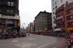 Die Feier 2014 Chinesischen Neujahrsfests in NYC 55 Stockbild