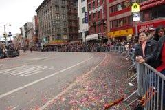 Die Feier 2014 Chinesischen Neujahrsfests in NYC 71 Stockbild