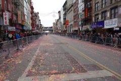 Die Feier 2014 Chinesischen Neujahrsfests in NYC 76 Stockbild