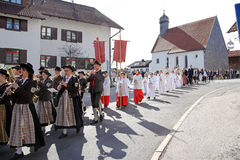 Die Feier der ersten heiligen Kommunion Lizenzfreie Stockfotos