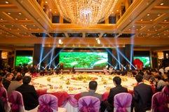 Die Feier des Chinesischen Neujahrsfests kommt für Abendessen Lizenzfreie Stockfotografie