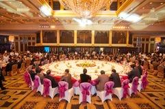 Die Feier des Chinesischen Neujahrsfests kommt für Abendessen Stockfoto