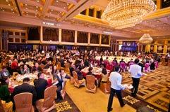 Die Feier des Chinesischen Neujahrsfests kommt für Abendessen Stockbilder