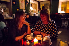 Die Feier des Jahrestages von Café Buchgemeinschaft 12 Stockfoto