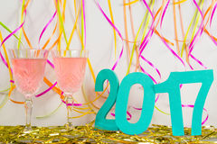Die Feier 2017 des neuen Jahres Stockfoto
