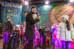 Die Feier von Maslenitsa (Pfannkuchenwoche) Lizenzfreies Stockfoto