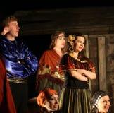 Die Feiertagssitzung mit der Oper im Gestüt von Hucul-Pony Gladyszow in Regietow polen lizenzfreies stockfoto