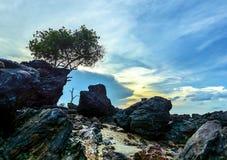 Die Felsen Bangka-Insel Indonesien stockfoto
