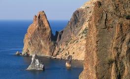 Die Felsen des Kaps Fiolent Stockbild