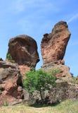Die Felsen von Belogradchik in Bulgarien Lizenzfreies Stockfoto
