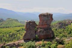 Die Felsen von Belogradchik in Bulgarien Stockfotos