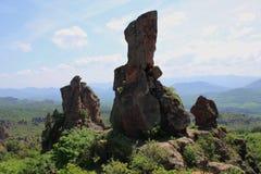 Die Felsen von Belogradchik in Bulgarien Lizenzfreies Stockbild