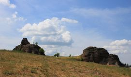 Die Felsen von Belogradchik in Bulgarien Stockbilder