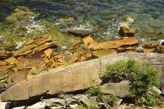 Die Felsen?, was sie unten dort tuend haben? Stockfotos