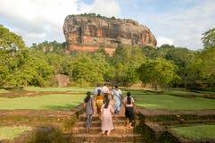 Die Felsenfestung von Sigiriya auf Sri Lanka Stockbild