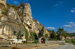 Die Felsenkloster Str. Dimitrii von Basarbovo Stockbild