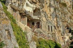 Die Felsenkloster Str. Dimitrii von Basarbovo Lizenzfreies Stockbild
