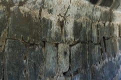Die Felsenwand eines alten indischen Forts lizenzfreies stockbild
