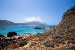 Die felsige Küste von Griechenland lizenzfreie stockfotos