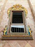 Die Fenster des thailändischen Tempels Stockbilder