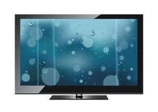 Die Fernseherscheinen ein Regen Lizenzfreies Stockbild