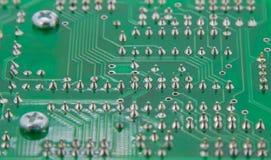 Die fertige Lötmittelelektronikdruck-Leiterplatte stockfotografie