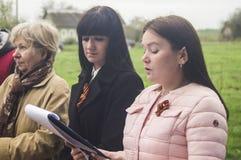 Die festliche Sitzung von kann 9, 2017, in der Kaluga-Region von Russland Lizenzfreie Stockfotos