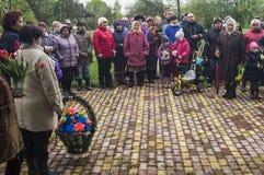 Die festliche Sitzung von kann 9, 2017, in der Kaluga-Region von Russland Lizenzfreies Stockfoto